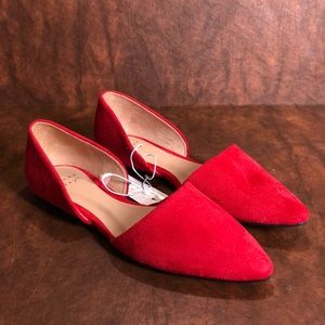 REBE Faux Suede Red Shoes
